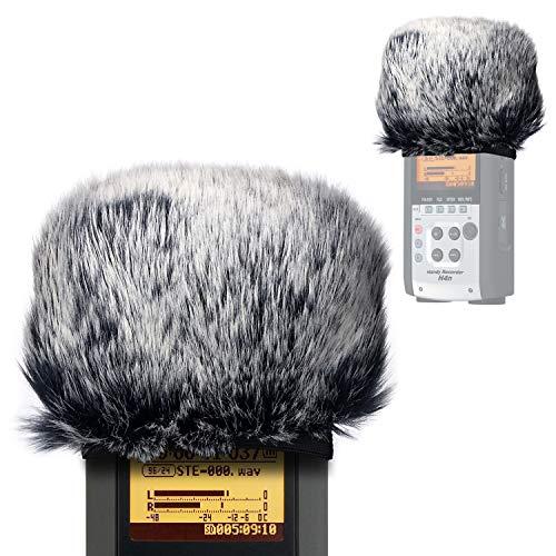 YOUSHARES Microfono Peloso Parabrezza Outdoor Filtro Pop Microfono schiuma per Zoom H4n & H2n Handy Recorder