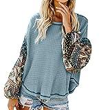 JUTOO Femme Encolure T-Shirt Manches Loisirs Top