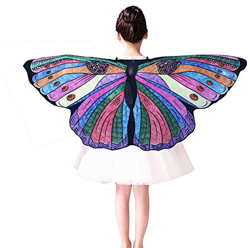 Xmiral Kinder DIY Schmetterling Cape Wings Kreative Angel Wings Dress up Costume Sie können sich selbst bemalen(Violett) (Angel Dress Up Kostüm)