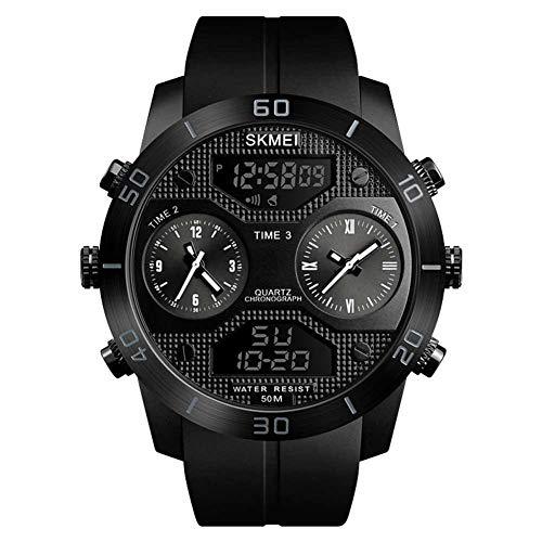 Reputedc Anwendbar für SKM Männer Outdoor-Sport-Multifunktions-Uhr Mode-Trend große Zifferblatt wasserdicht E-Commerce-Uhr