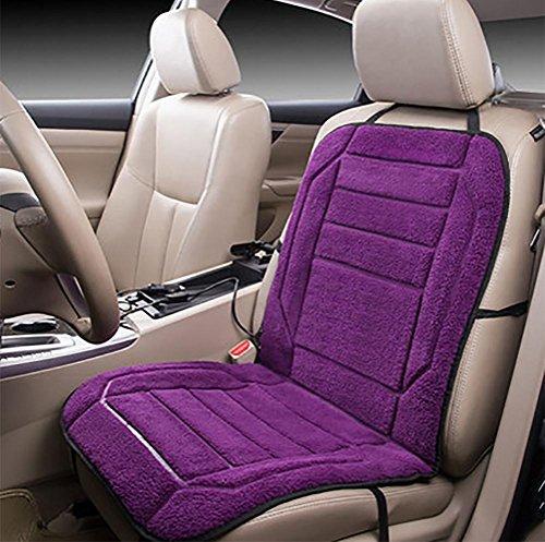 DIELIAN 12V Plüsch beheiztes Sitzkissen Sitzbezüge Sitzheizung Sitzauflage mit High/Low/Off Temperaturregelung, Purple (Low Hängematte)