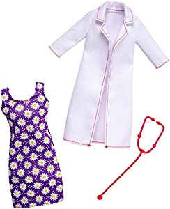 Barbie - Ropa muñeca Fashionsita, Bata de doctora (Mattel FKT12)