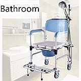 D&F Toilettenstuhl, Fahrbarer Dusch...