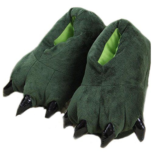 Unisex Soft Plush Home Slippers Animal Costume Paw Claw Shoes