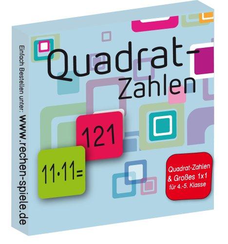 Quadrat-Zahlen & Großes 1x1, leicht lernen mit Karteikarten