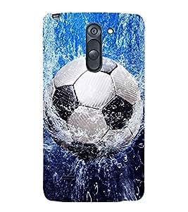 PrintVisa Football In Water 3D Hard Polycarbonate Designer Back Case Cover for LG G3 Stylus :: LG G3 Stylus D690N :: LG G3 Stylus D690