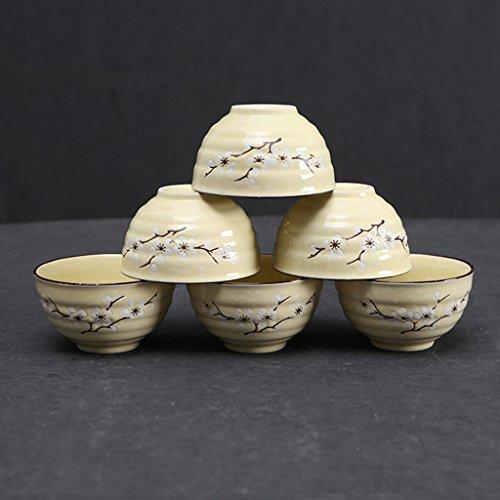 SX-ZZJ Cuencos de Sopa Cuencos con Forma de Porcelana - 6 onzas para Cereales, Sopa y Fruta, Colores Surtidos Calientes (Color : A)