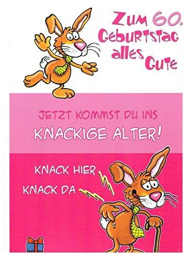 Geburtstagskarte XXL zum 60. Geburtstag, witzig + Umschlag