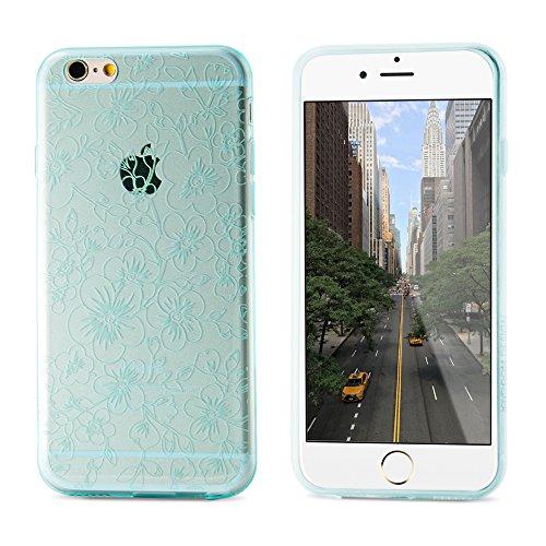 Coque Iphone 6S, Belk [Fleurs] Apple iPhone 6S Étui transparent design Premium Slim Coque rigide pour Apple iPhone Motif fleur 6S (4.7)–Blanc iPhone6/6s pink iPhone6/6s plus green