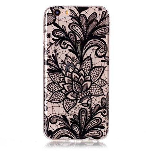 """Coque pour iPhone 6S Plus / 6 Plus , IJIA Transparent Fleurs De Peinture à L'huile TPU Doux Silicone Bumper Case Cover Shell Housse Etui pour Apple iPhone 6S Plus / 6 Plus (5.5"""") BF21"""