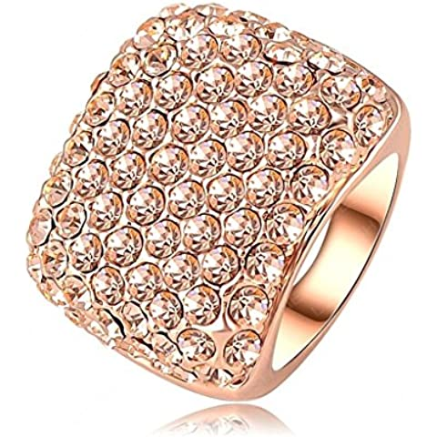 Alimab Gioielli signore anelli di fidanzamento anelli di nozze le Donne amano Piazza anelli in oro placcati oro anelli