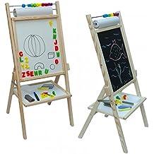 Stand Magnet Drehkindertafel mit Papierrolle und Abakus Standkindertafel 39x92cm Magnettafel Kindertafel Schultafel Standtafel Maltafel