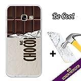 BeCool®–Handy Schutzhülle [Flexible Gel] für Samsung Galaxy A32017[+ 1Displayschutzfolie Glas] Ultra Dünn Silikon, schützt und sich perfekt an Ihrem Smartphone. Tafel-Schokolade Schwarz