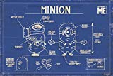 empireposter - Minions -  Despicable Me Blue Print - Größe (cm), ca. 91,5x61 - Poster, NEU -