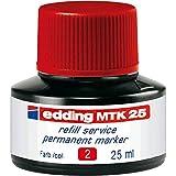 Edding Nachfülltinte MTK 25 refill service Permanentmarker 25ml rot