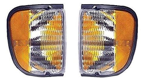 Fits 92 - 07 Ford Full Size Van E150 E250 E350 Cornerlight Cornerlamp Pair Set Driver and Passenger E Series by Not