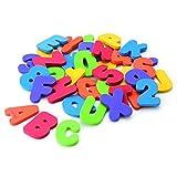 Anself Bubble Maker, 36Pcs Baby Bath Toys Set Letters & Number Pieces Floating Stick-on Tile Walls Educational Toys Safe EVA Foam BPA Free