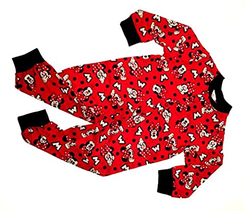 Kids Girls Disney Minnie Mouse 100% Cotton Onesies Pyjamas Pjs
