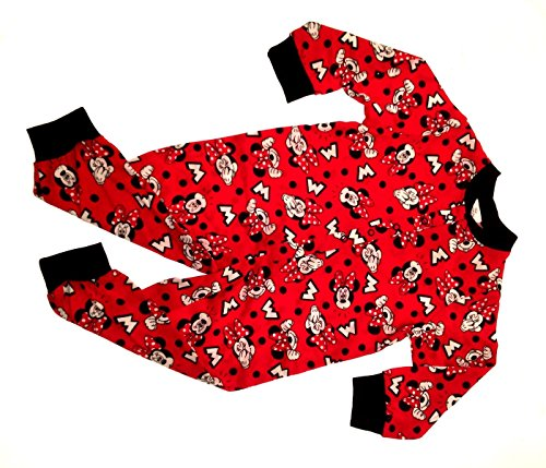 mpelanzug Rot Minnie Mouse - Red with Black Spots (Despicable Me-strampelanzug)