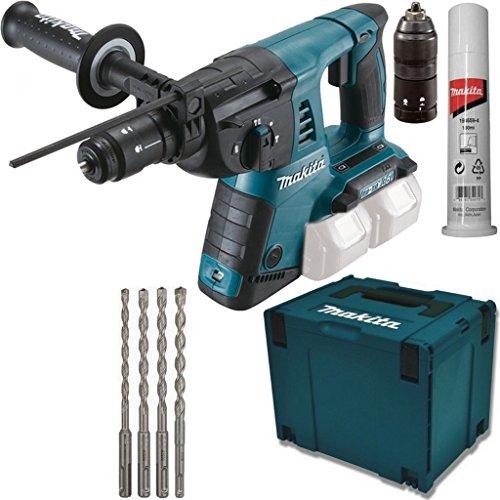 Preisvergleich Produktbild Makita Akku Kombihammer - Bohrhammer - DHR264ZJ 18V + Bohrer 6 8 10 12 mm SDS Plus 7