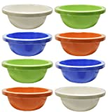 """Set of 24 Black Duck Brand 7"""" Bowls - 28 OZ Plastic Bowls in 4 Hot Assorted Colors! Perfect for Kid"""