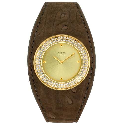 Ladies Orologio Guess con Swarovski 80338l2 Diva Marrone