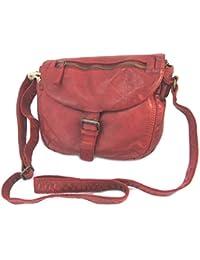 Ledertasche 'Gianni Conti'red vintage - 26x20.5x6.5 cm.