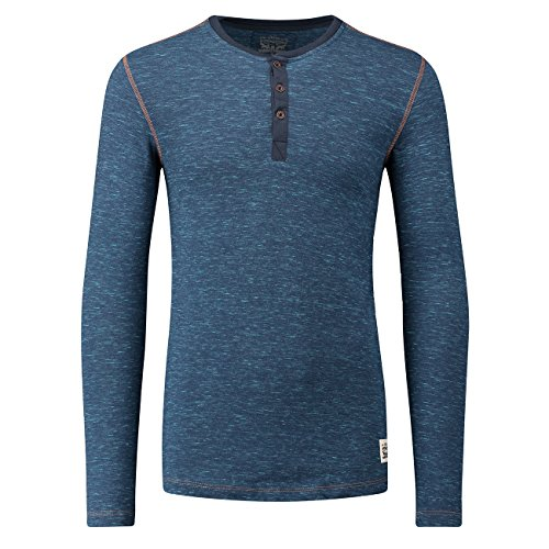 LEVIS 300LS Tri-Blend Long Sleeve HENLEY Langarm Shirt 2er Pack - blue jeans (599) - L (Henley Long Sleeve Co)