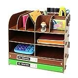 Tosbess Holz Schreibtischorganizer Tisch Organizer Büro Fernbedienung Box Organisation Aufbewahrungsbox Schreibtisch