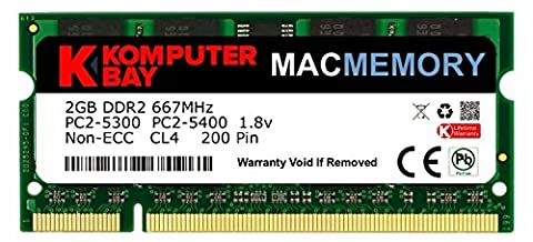 Komputerbay Apple MAC MÉMOIRE2 Go d'Apple (seul bâton de 2 Go) PC2-5300 DDR2 667 MHz SODIMM pour iMac et Macbook