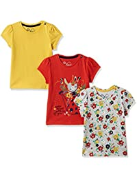 Mothercare Girls' T-Shirt (Pack of 3)
