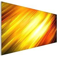 Oro giallo fuoco astratto vetro acrilico moderno Wall Art XL
