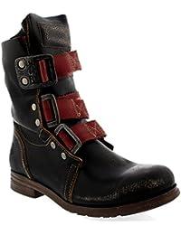 Qiusa Knöchel Winter Stiefel Schuhe Frauen, Leder Militär