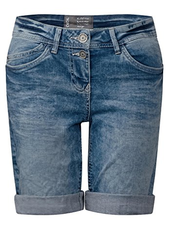 CECIL Damen Kurze Denim Scarlett light blue used wash