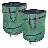 Buy-Safe 2x Gartensack 160 Liter selbstaufstellende Pop-Up Gartenabfallsäcke Laubsäcke Polyester Oxford Premium Qualitätät