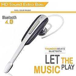 Intex Compatible Wireless Bluetooth Headset In-Ear V4. 0 Stealth Heaphone Handfree By Heavyloot