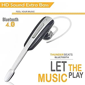 Idea Compatible Wireless Bluetooth Headset In-Ear V4. 0 Stealth Heaphone Handfree By Heavyloot
