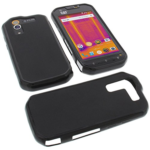 Custodia per cellulari CAT S60 in gomma TPU di colore nero