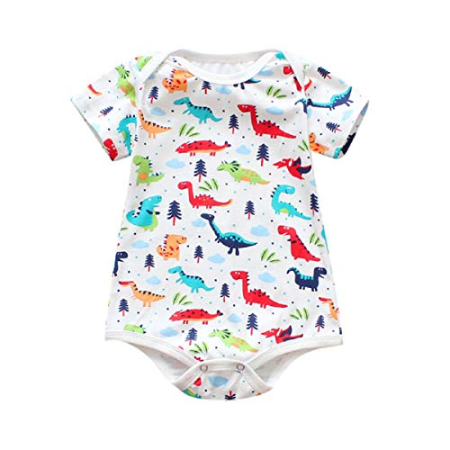 Liusdh Sommer-Kinderkleidung, Neugeborene, Kleinkind, Baby Jungen Mädchen, ärmellos, Cartoon-Print (Weihnachts-pyjamas Passende Mädchen Jungen)