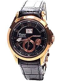 Seiko De los hombres Watch Premier Kinetic Perpetual Japan Reloj SNP084P1