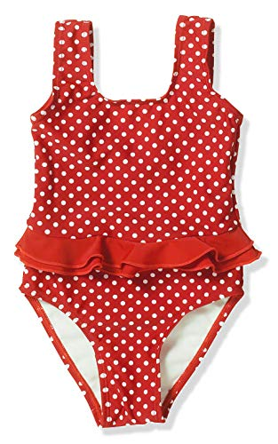 Playshoes Mädchen Badeanzug UV-Schutz Punkte, Rot (8 rot), 86/92 -