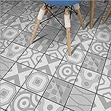 JY Pegatinas de Azulejos/Adhesivo para Azulejos - Pintura de Pared Decorativo para Azulejos para Baño y Cocina - Collage de Azulejos Blanco grisáceo ZT011, 20cm*5m