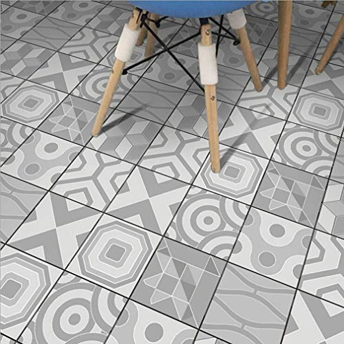 JY ART Grau weiß Wand-Aufkleber Küche Deko Badezimmer-Gestaltung - Küchen-Fliesen überkleben - Dekorative Bad-Gestaltung - Fliesen-Aufkleber ZT011, 20cm*5m