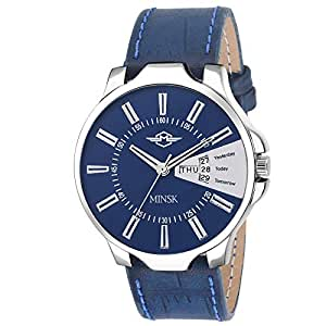 MINSK MK7060 Blue Strap Day and Date Boys Watch - for Men