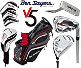 Ben Sayers LEFT HAND Tour Steel V5 Men's Full Golf Set 2017 Stand Bag Golf Clubs Set New