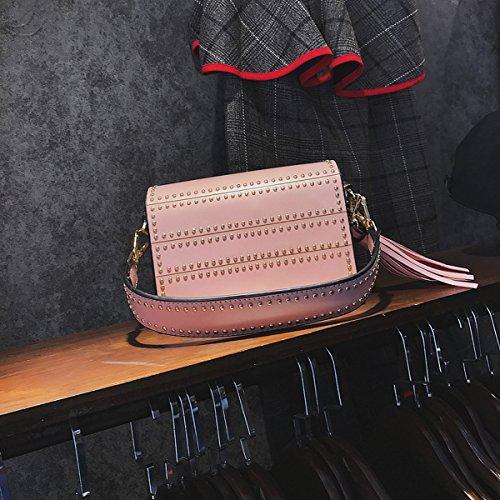 art und Weise Weibliche wilde handtaschenschulter Kurier Kurier einfache kleine quadratische tasche Rosa
