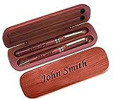 Bespoke personalisierte Laser gravierte Kugelschreiber & Füllfederhalter Set Geschenk Geschenk mit kostenlosen Custom Gravur