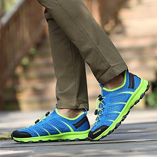 GOMNEAR Herren Outdoor Walking Laufschuhe Anti-Rutsch Fashion Sneaker Casual Breathable Mesh Schuhe Größe blue