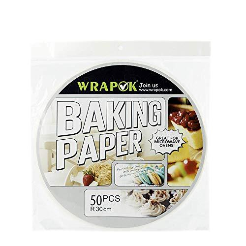 apier Rund Wachspapier Bambus Dampf Runde 50 Zählen Pergament Perforierte Papier Non-Stick für Air Fryer Baking Dämpfen Korb Kochen Kuchen Pfannen Kreis ()
