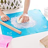 Syga Non-Stick Silicone Reusable Pastry Rolling Mat With Measurements, Diameter: 6-14-inch (Multicolour)